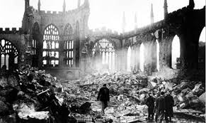 Coventry Cathdral after bombing